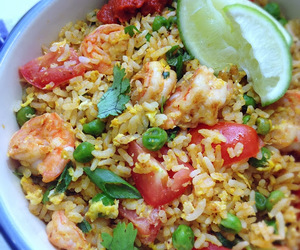 asian, fried rice, and rice image