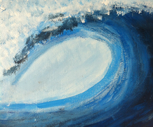 Bleu, board, and paint image