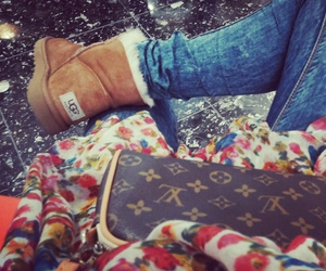 girl, jeans, and louisvuitton image