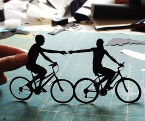 bicycle, love, and couple image