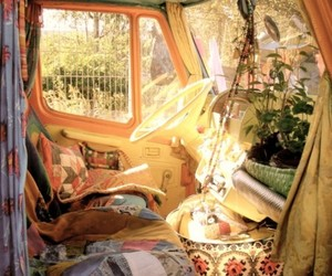 hippie, van, and car image