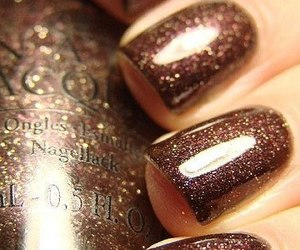 nails, style, and brown image
