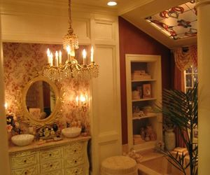 antique, bathroom, and china image