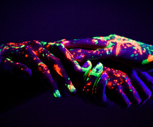 neon, hands, and lights image