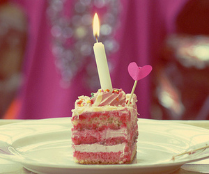 cake, pink, and birthday image