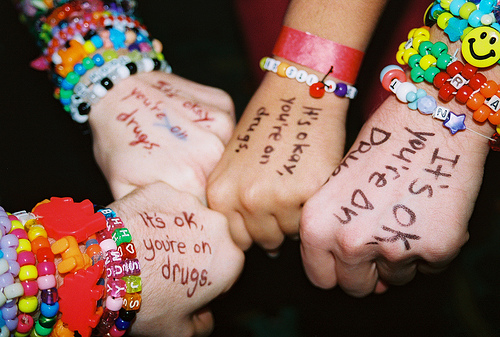 party, kandi kid, and rave image