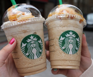 cream, drink, and frappuccino image