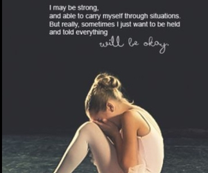 ballet, strong, and cry image