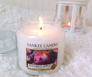 candle, yankee candle, and cozy image