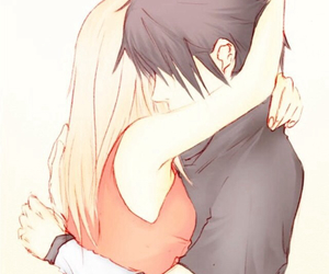 anime, couple, and drawing image