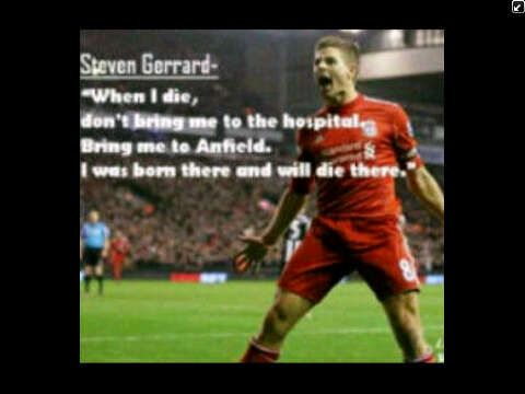when i die dont bring me go the hospital bring me to anfield i