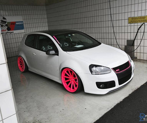 car, gti, and pink image