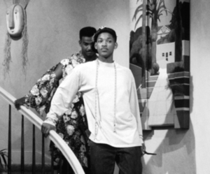 black and white, will smith, and prince of bel air image