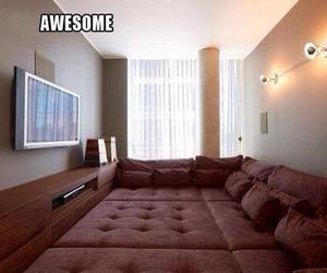 awesome, tv, and room image