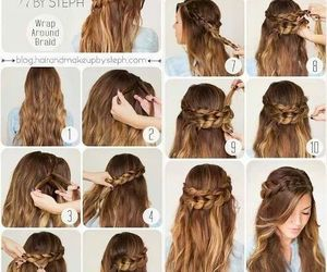 creative, girly, and hairstyle image