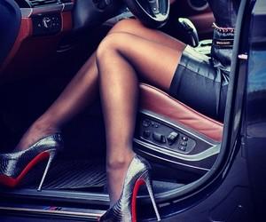 heels, car, and luxury image