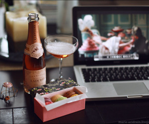 champagne, macaroons, and marie antoinette image