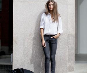 fashion, model, and cigarette image