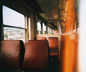 bus, photography, and seats image