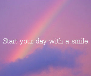 smile, day, and rainbow image