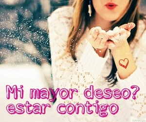 deseo, frases, and nieve image
