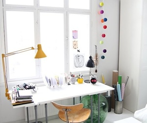 colourful, creative, and workspace image