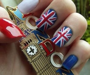london, nails, and blue image