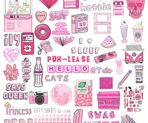 pink, wallpaper, and swag image
