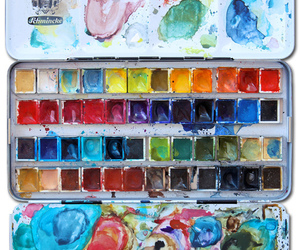 paint, watercolour, and watercolours image