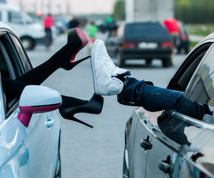 love, car, and shoes image