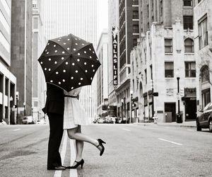 love, couple, and umbrella image