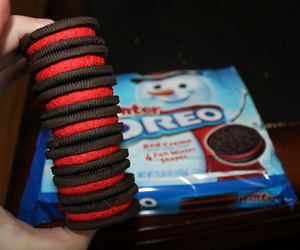 oreo, food, and red image