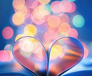 book, colors, and heart image