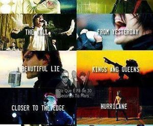 30 seconds to mars, thirty seconds to mars, and 30stm image