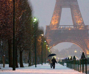 paris, snow, and winter image