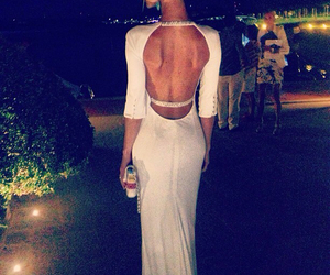 dress, white, and sexy image