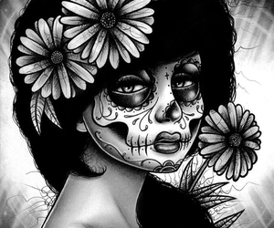 art, day of the dead, and drawing image