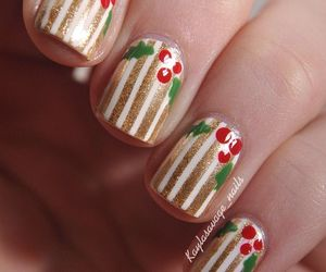nails, dots, and holiday image