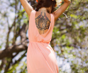 flowers, tattoo, and style image