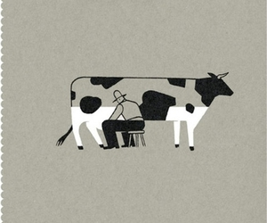 cow, milk, and illustration image