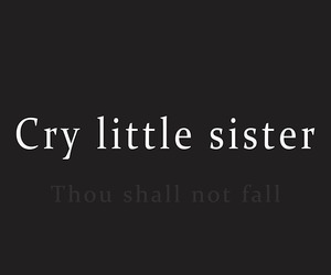 fall, cry little sister, and frases image