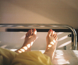 feet, indie, and bed image
