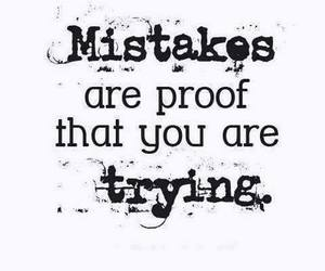 mistakes, quote, and trying image