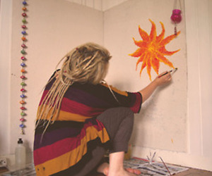 sun, dreads, and hippie image