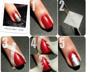nail, red, and silver image