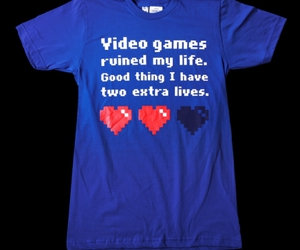 video games, game, and t-shirt image