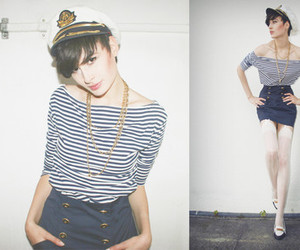 navy, outfit, and sailor image