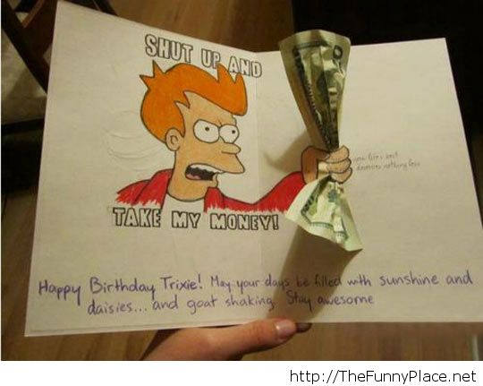 funny birthday card uploaded by thefunny on we heart it