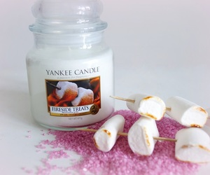 candle, pink, and white image