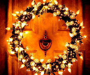 christmas, door, and december image